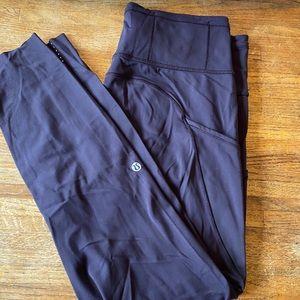 LULULEMON high waisted 7/8 length leggings